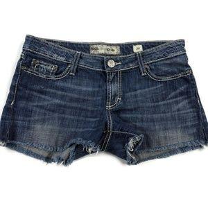 BKE Buckle Stella Frayed Stretch Jean Shorts